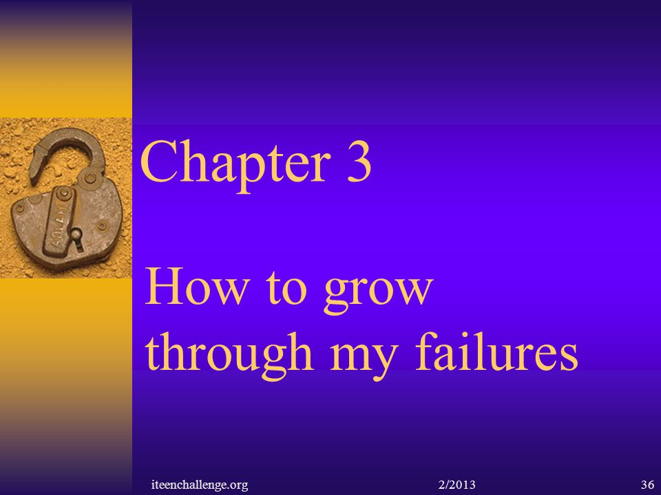 How to grow through my failures