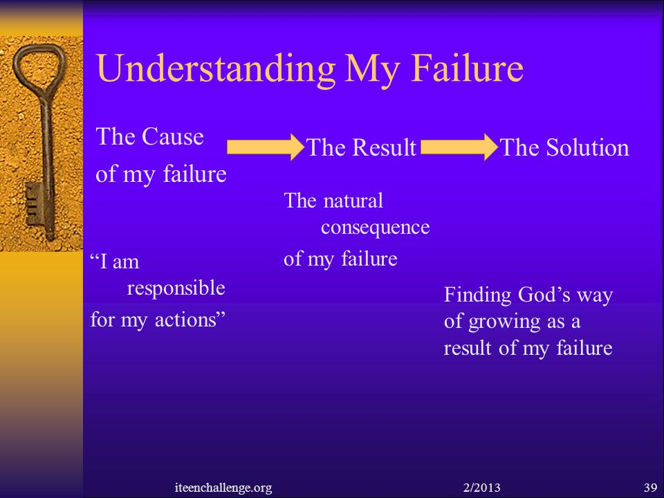 Understanding My Failure