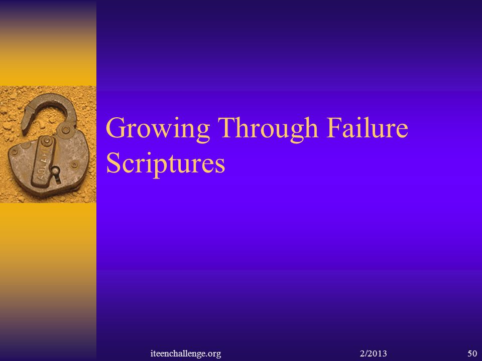 Growing Through Failure Scriptures