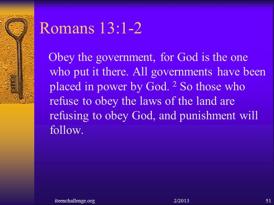 Romans 13:1-2