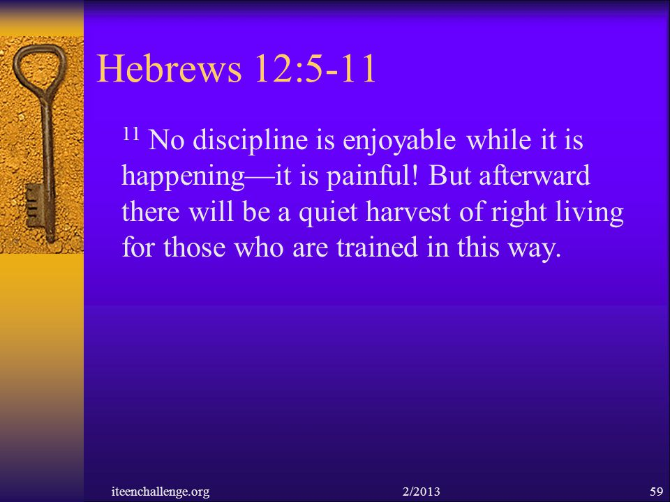 Hebrews 12:5-11