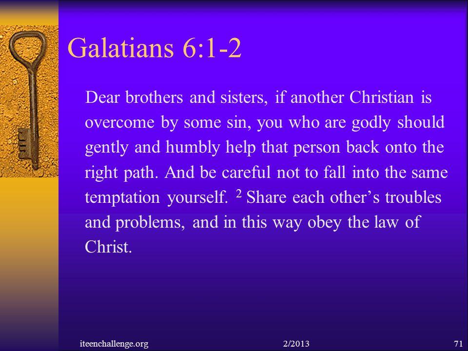 Galatians 6:1-2