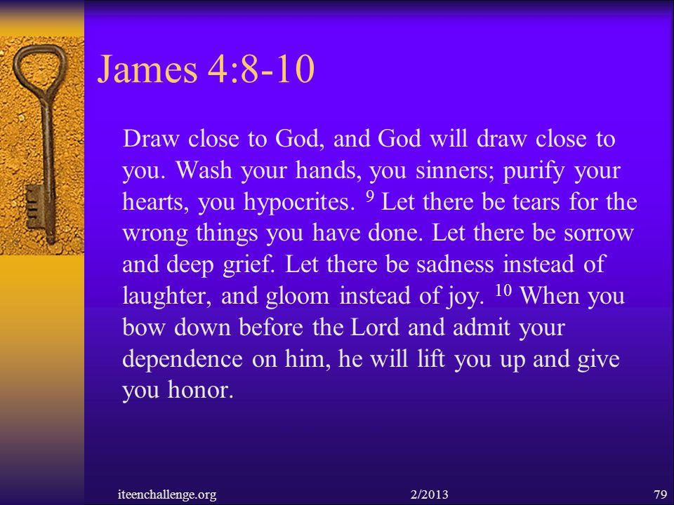 James 4:8-10