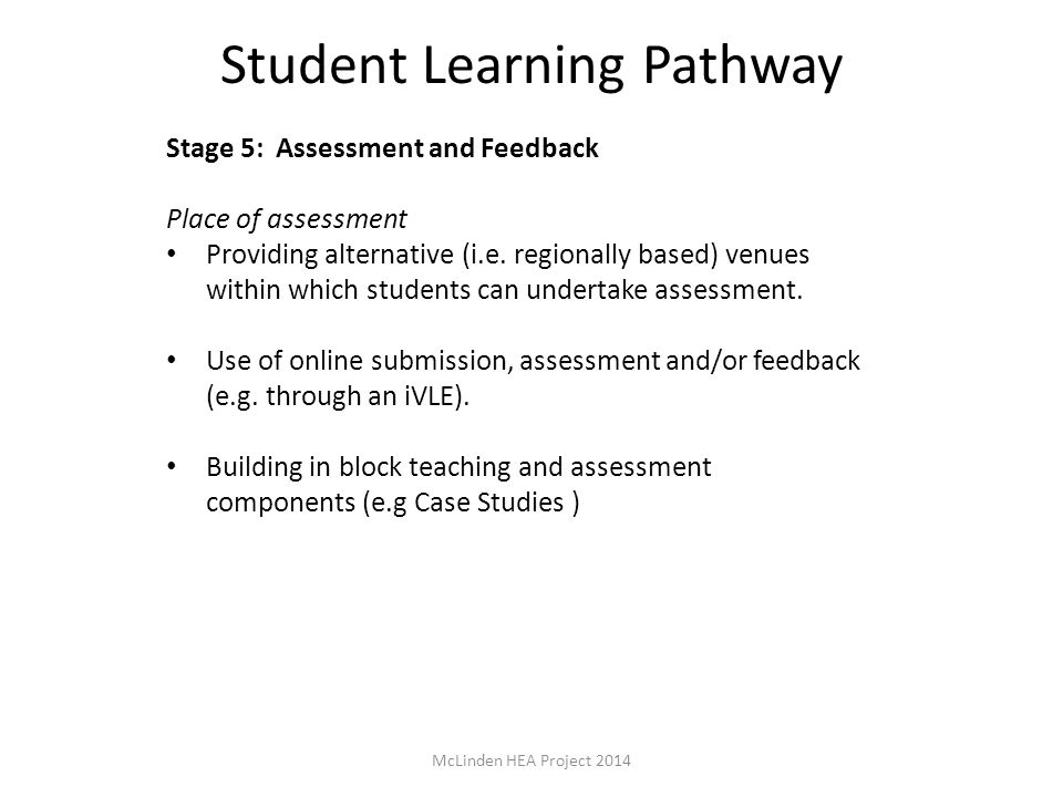Student Learning Pathway