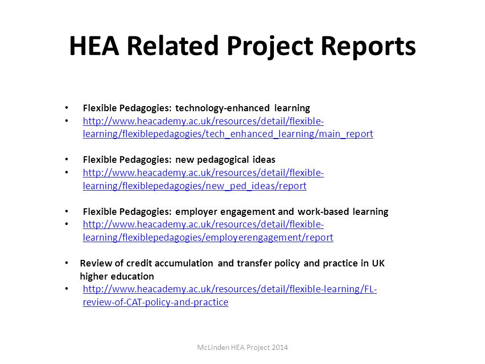 HEA Related Project Reports