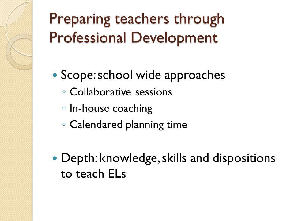 Preparing teachers through Professional Development