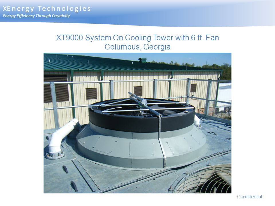 XT9000 System On Cooling Tower with 6 ft. Fan