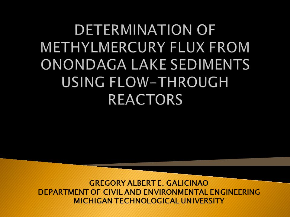 DETERMINATION OF METHYLMERCURY FLUX FROM ONONDAGA LAKE SEDIMENTS USING FLOW-THROUGH REACTORS