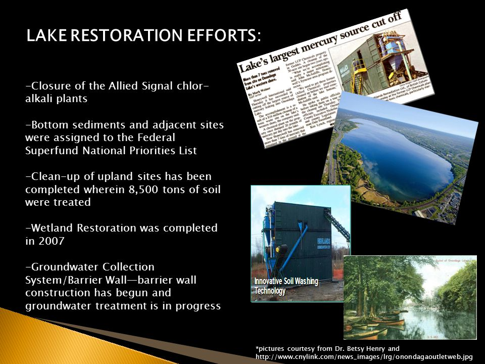 LAKE RESTORATION EFFORTS: