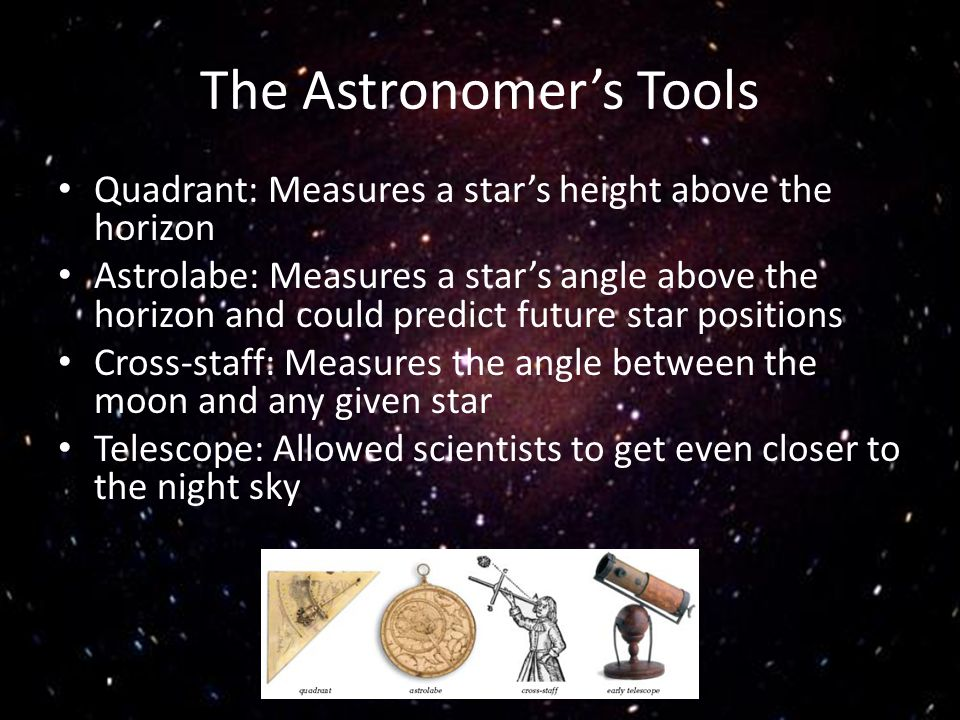 The Astronomer's Tools