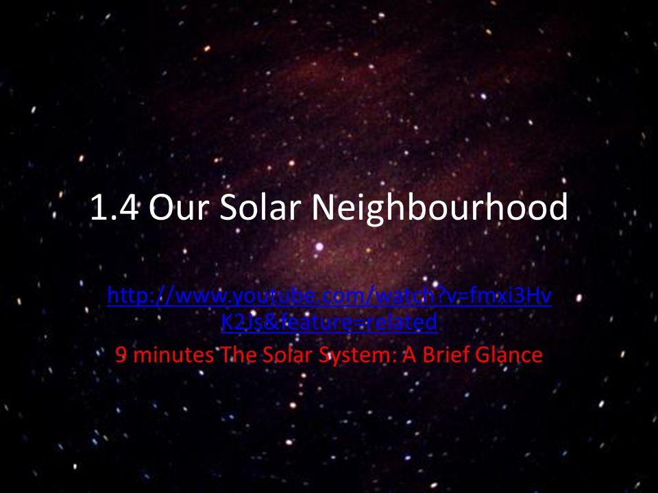 1.4 Our Solar Neighbourhood