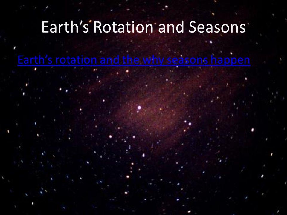 Earth's Rotation and Seasons