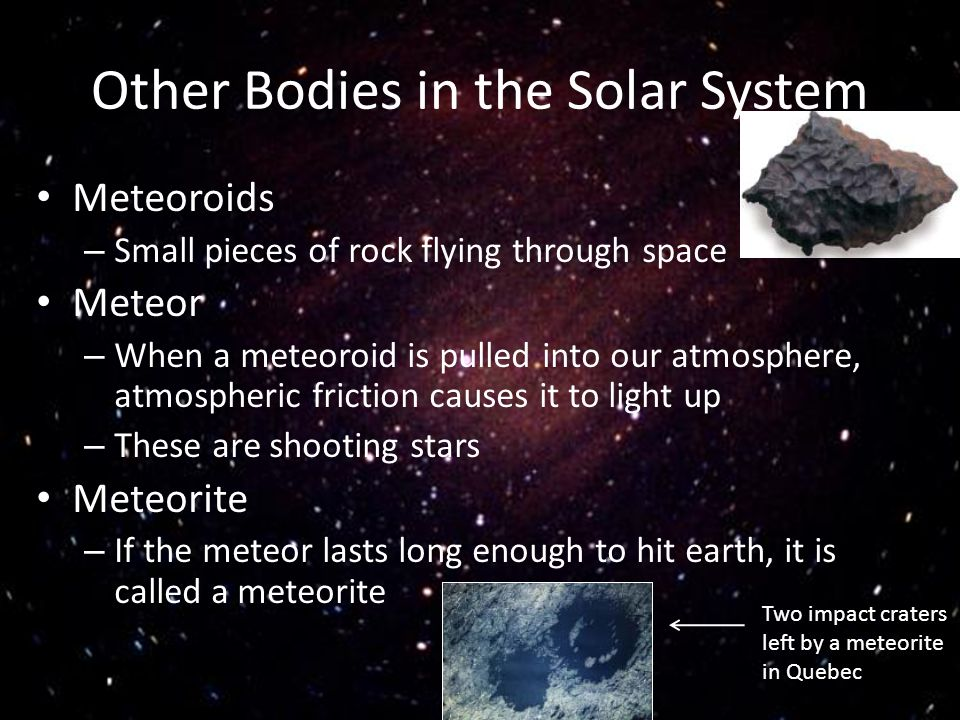 Other Bodies in the Solar System