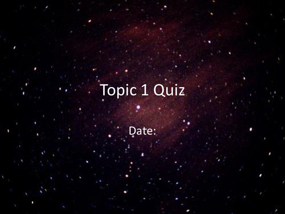 Topic 1 Quiz Date: