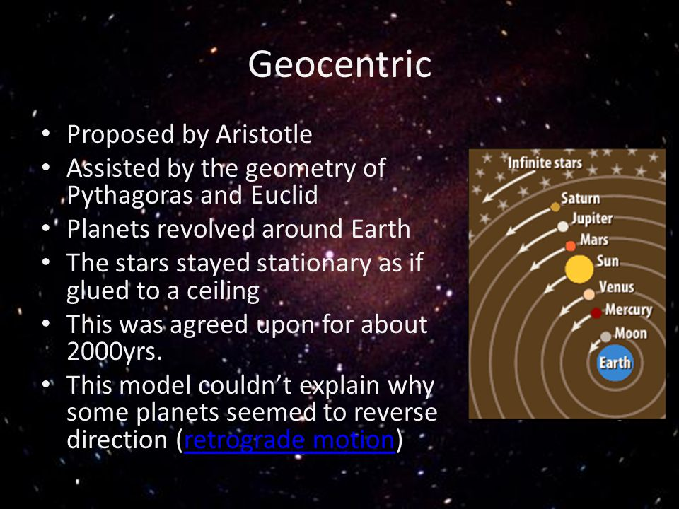 Geocentric Proposed by Aristotle