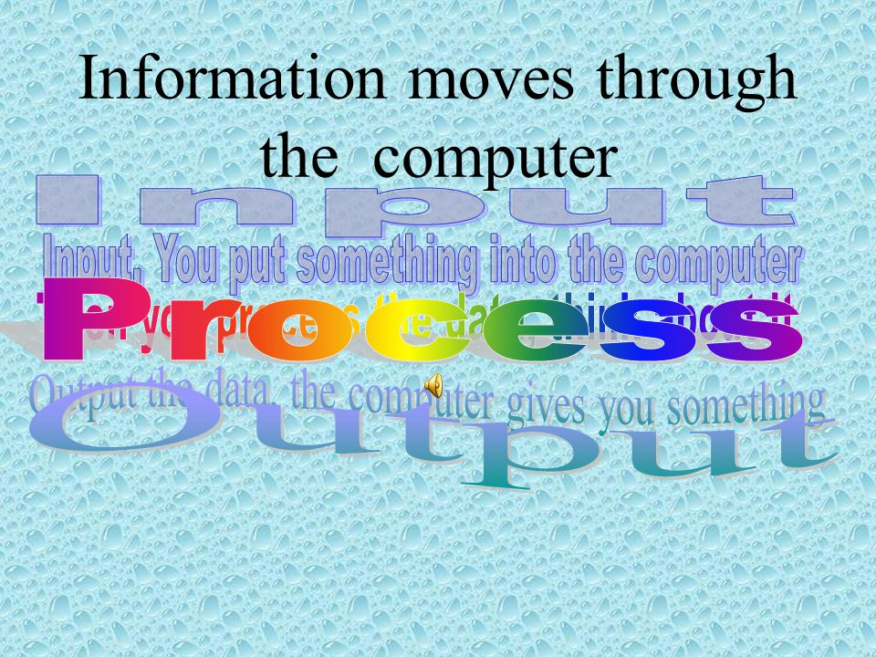 Information moves through the computer