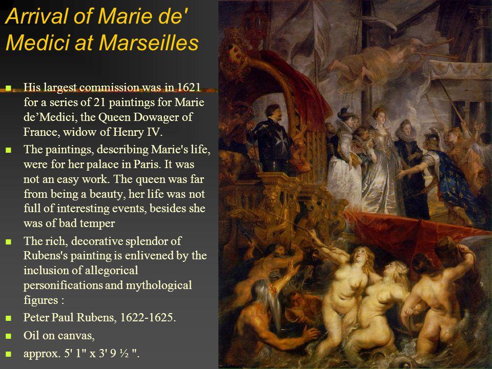 Arrival of Marie de Medici at Marseilles
