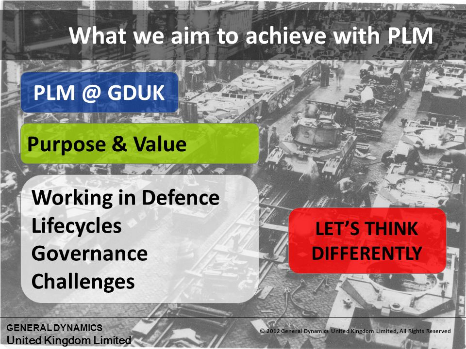 What we aim to achieve with PLM