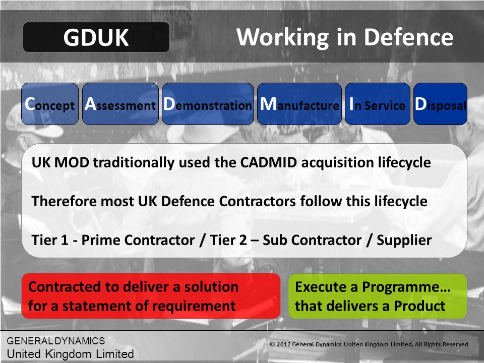 © 2012 General Dynamics United Kingdom Limited, All Rights Reserved