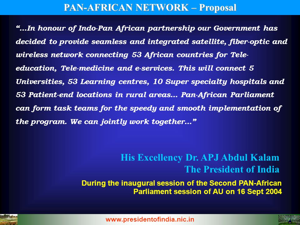PAN-AFRICAN NETWORK – Proposal