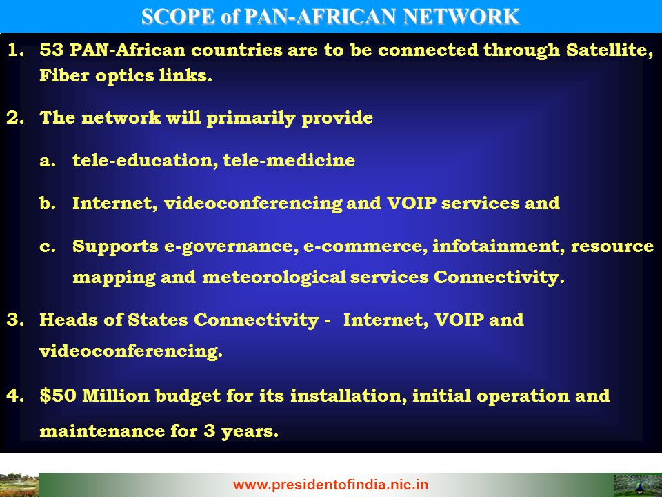 SCOPE of PAN-AFRICAN NETWORK