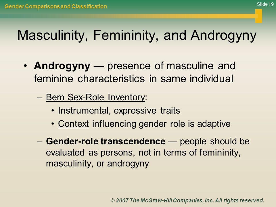 Masculinity, Femininity, and Androgyny
