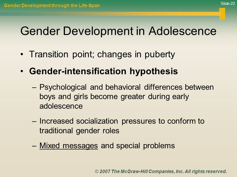 Gender Development in Adolescence