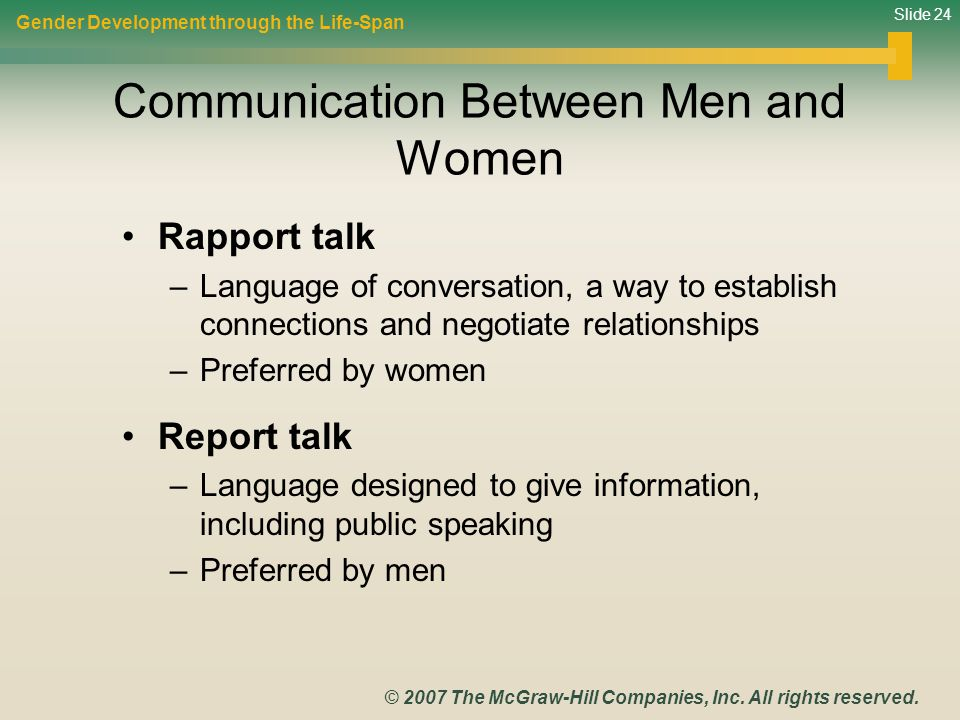 an analysis of the communication between men and women Nonverbal and verbal behavior of male and female master's in business adminis-  tration (mba)  a repeated measures analysis of variance for the competence.