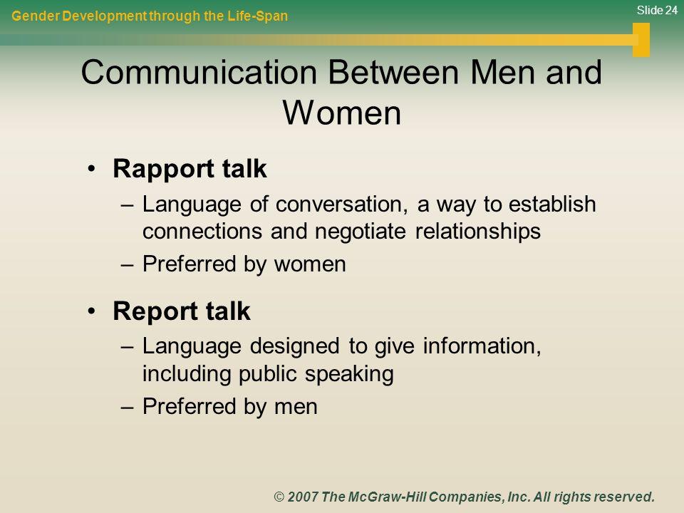 an analysis of gender communication between men and women