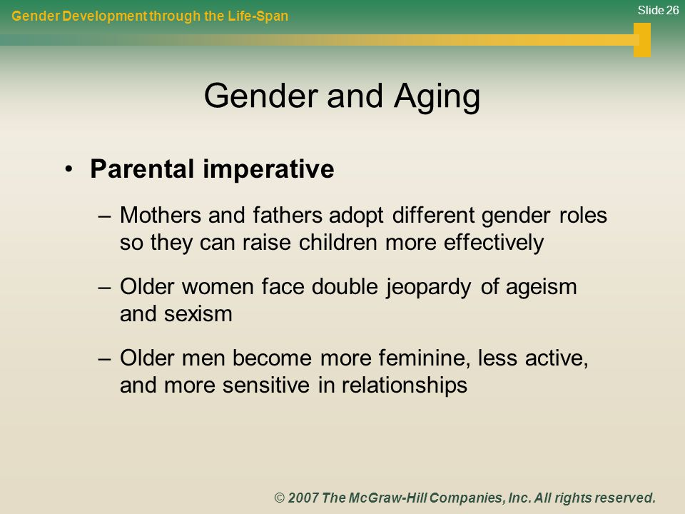 Gender and Aging Parental imperative