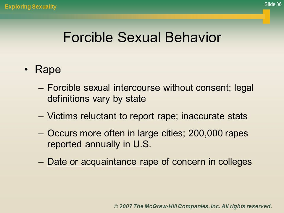 Forcible Sexual Behavior