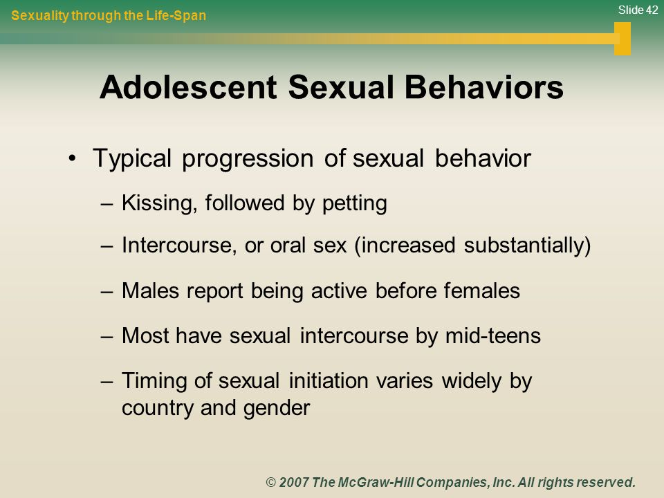 Adolescent Sexual Behaviors