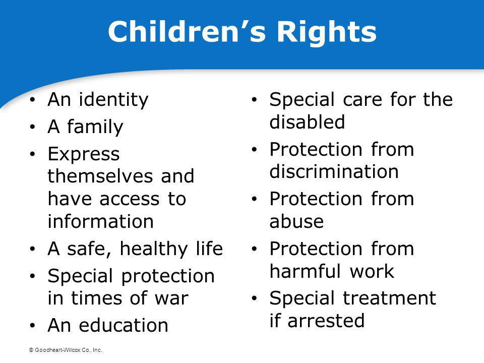 Children's Rights An identity A family