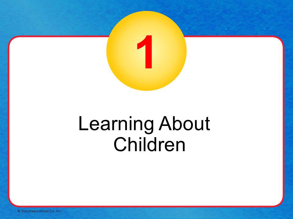 Learning About Children