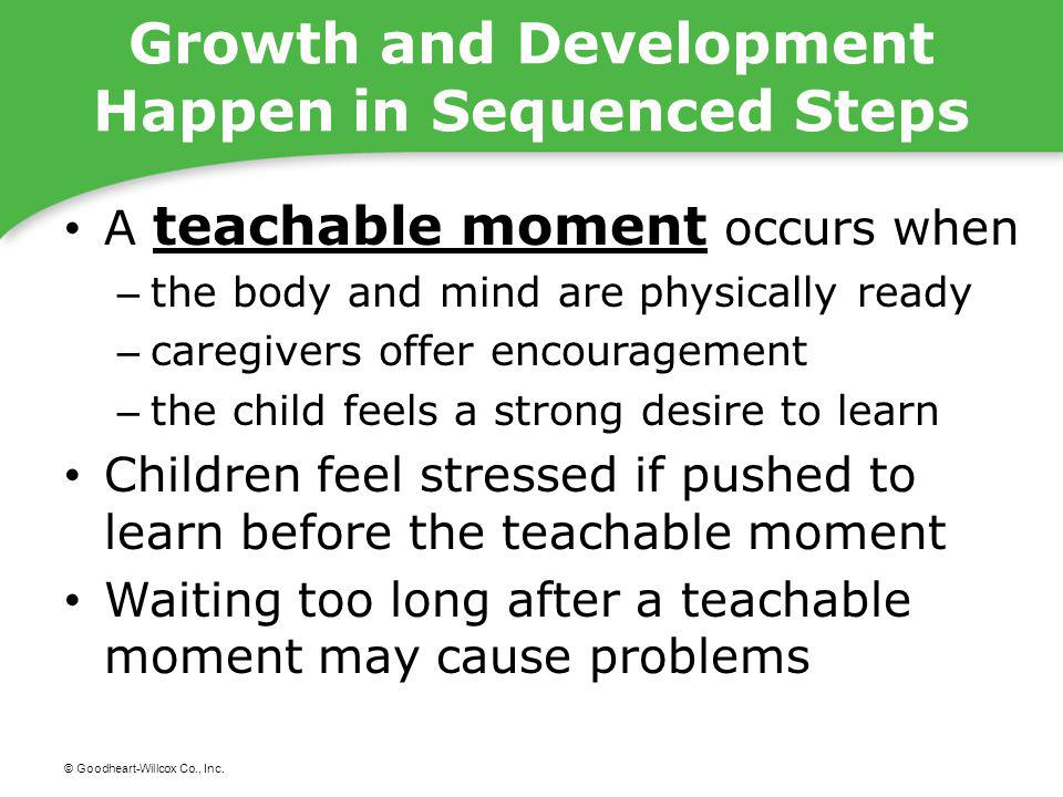 Growth and Development Happen in Sequenced Steps