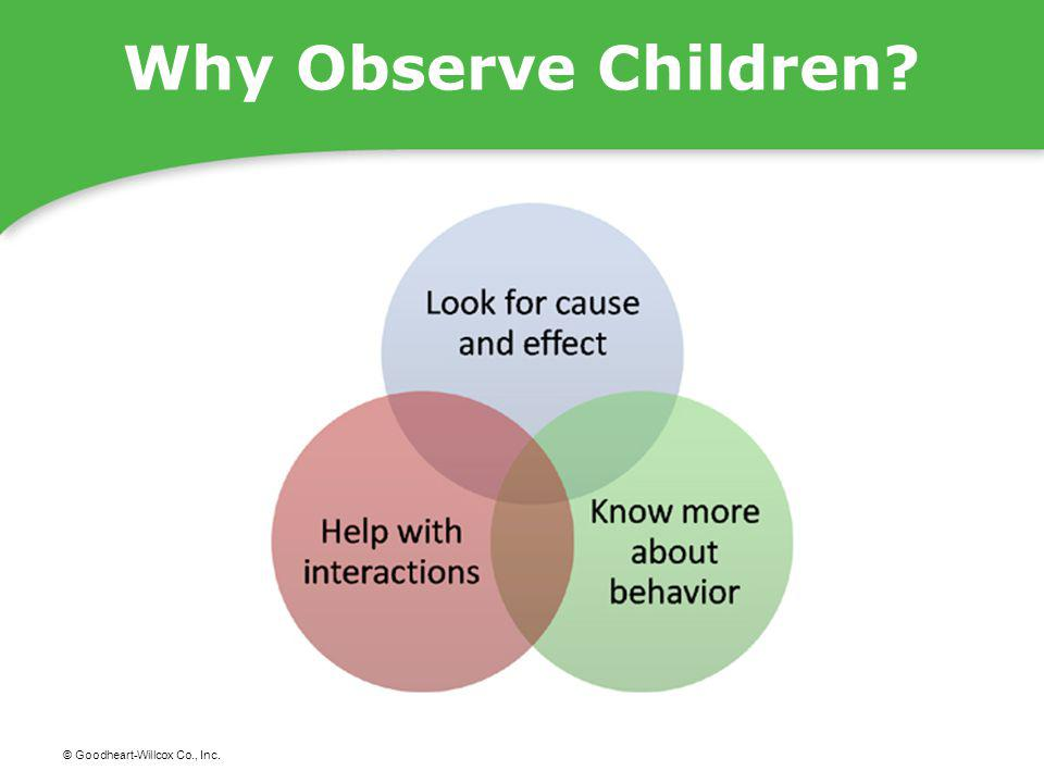 Why Observe Children