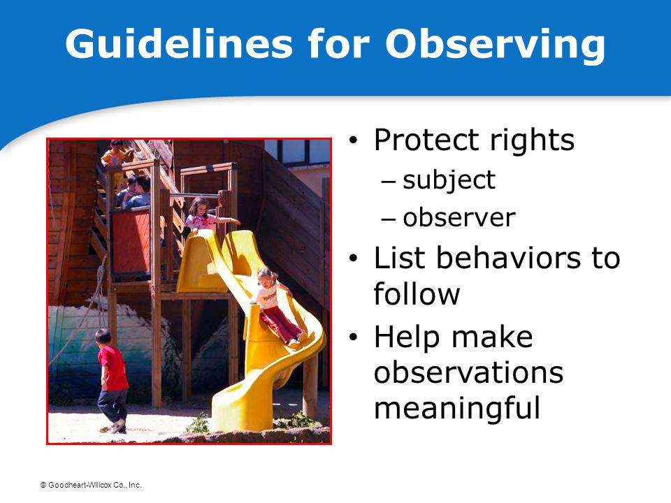 Guidelines for Observing