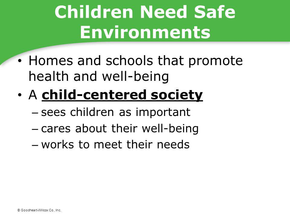 Children Need Safe Environments