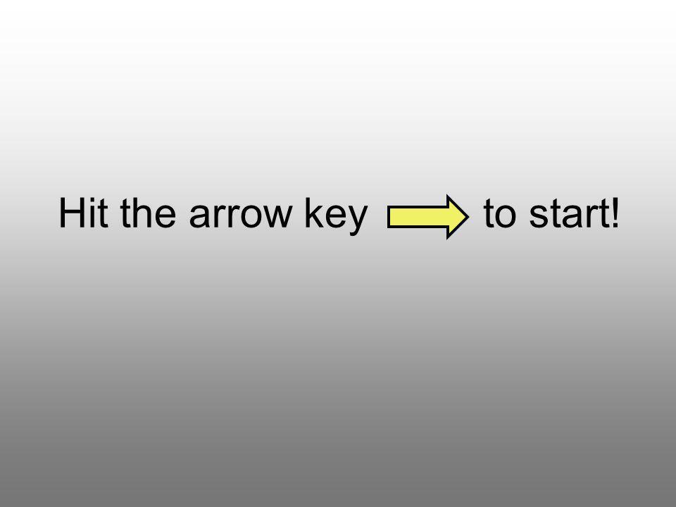 Hit the arrow key to start!