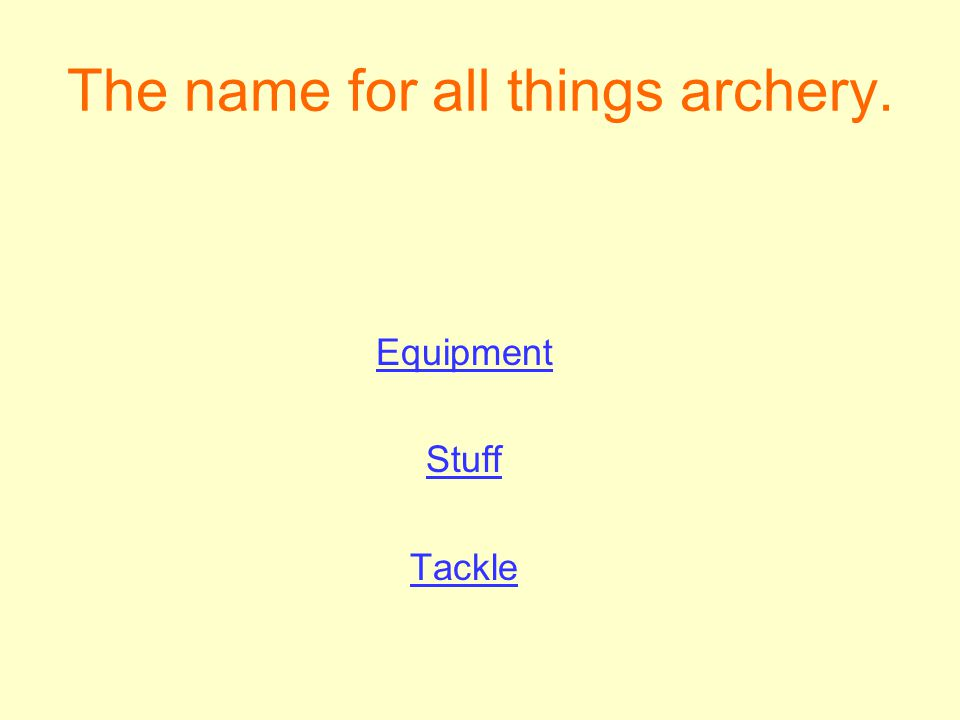 The name for all things archery.