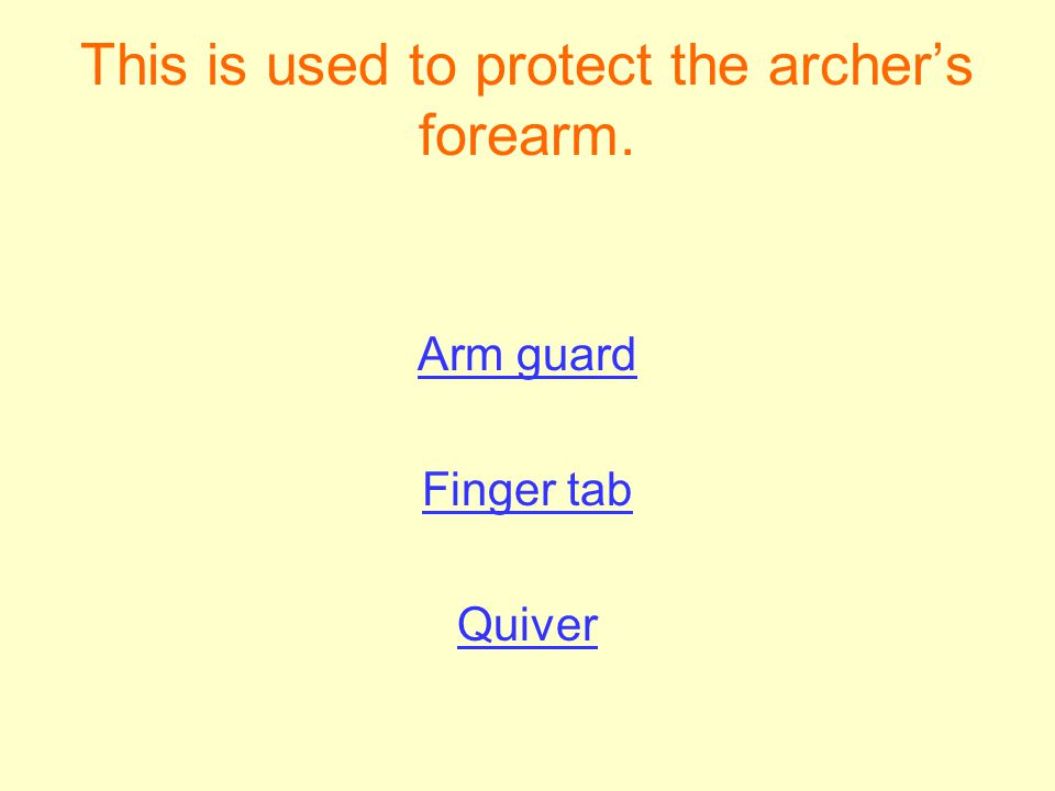 This is used to protect the archer's forearm.
