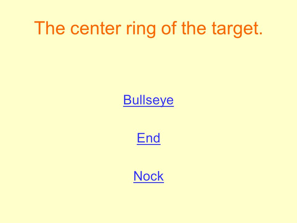 The center ring of the target.