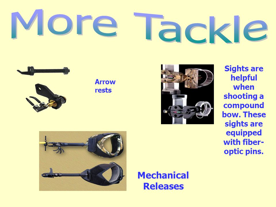 More Tackle Mechanical Releases