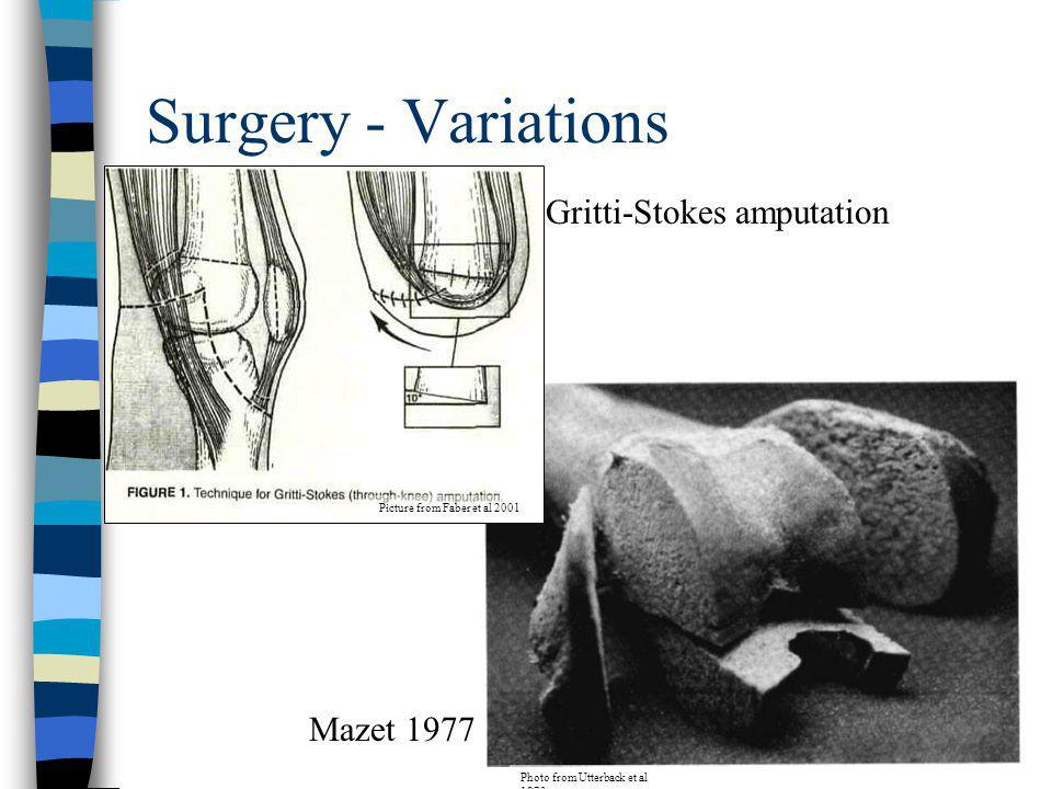 Surgery - Variations Gritti-Stokes amputation Mazet 1977