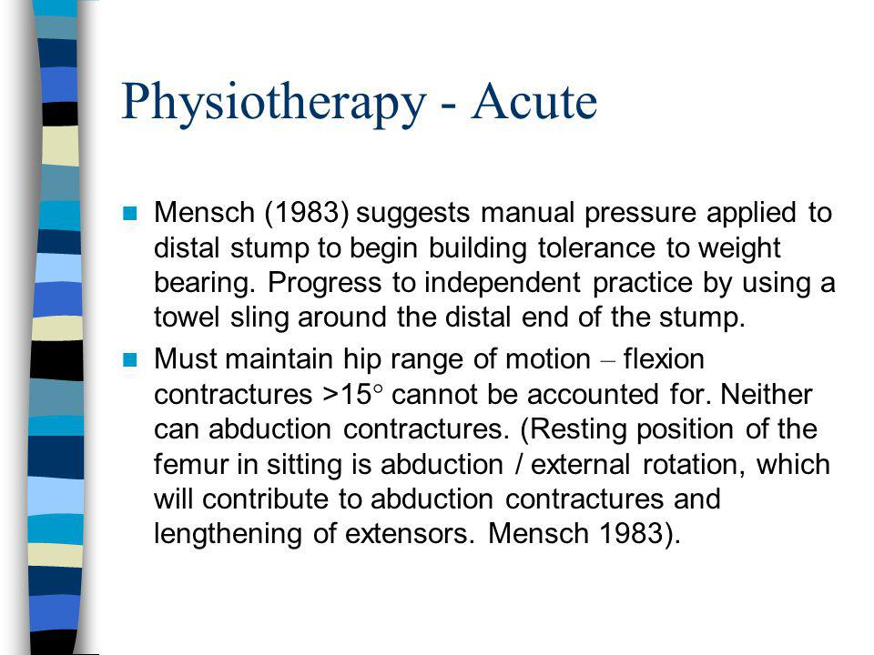 Physiotherapy - Acute