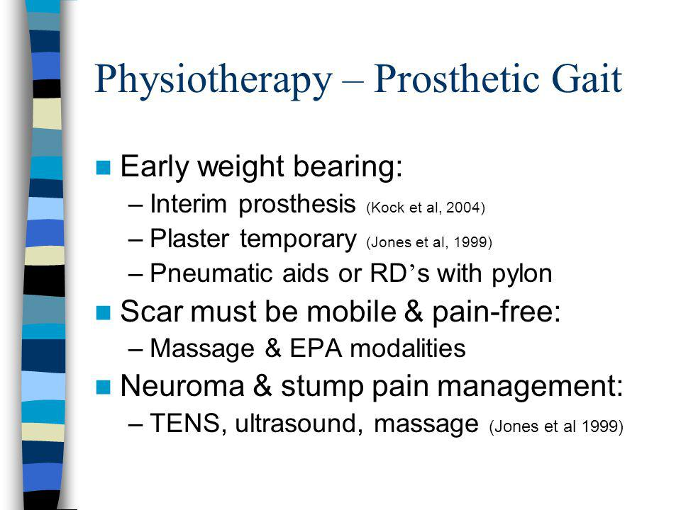 Physiotherapy – Prosthetic Gait