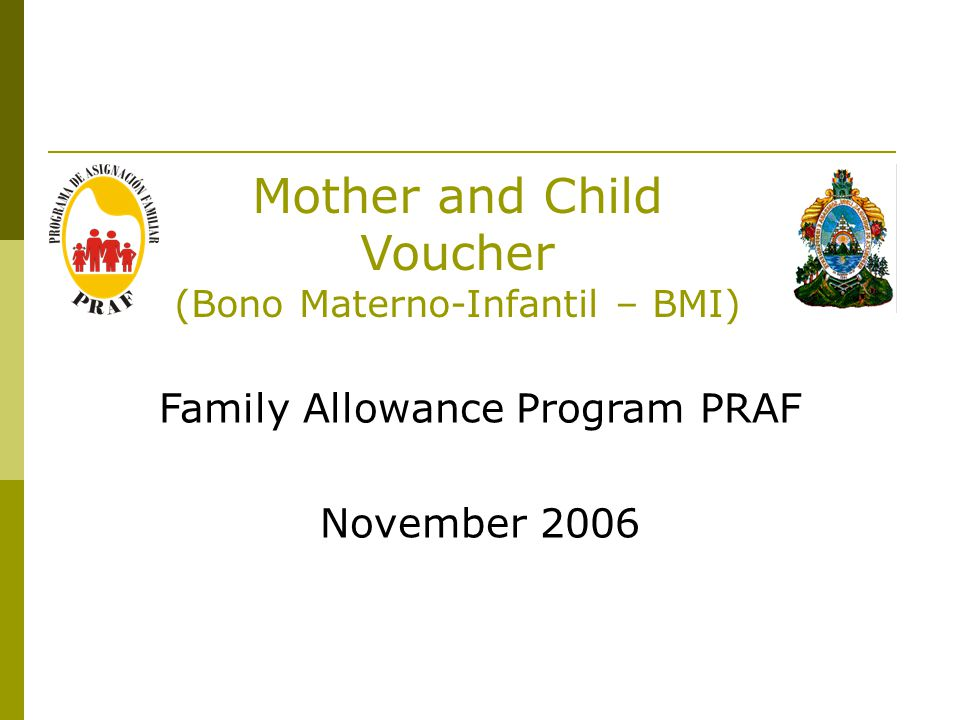 Mother and Child Voucher