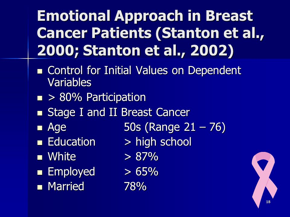 Emotional Approach in Breast Cancer Patients (Stanton et al