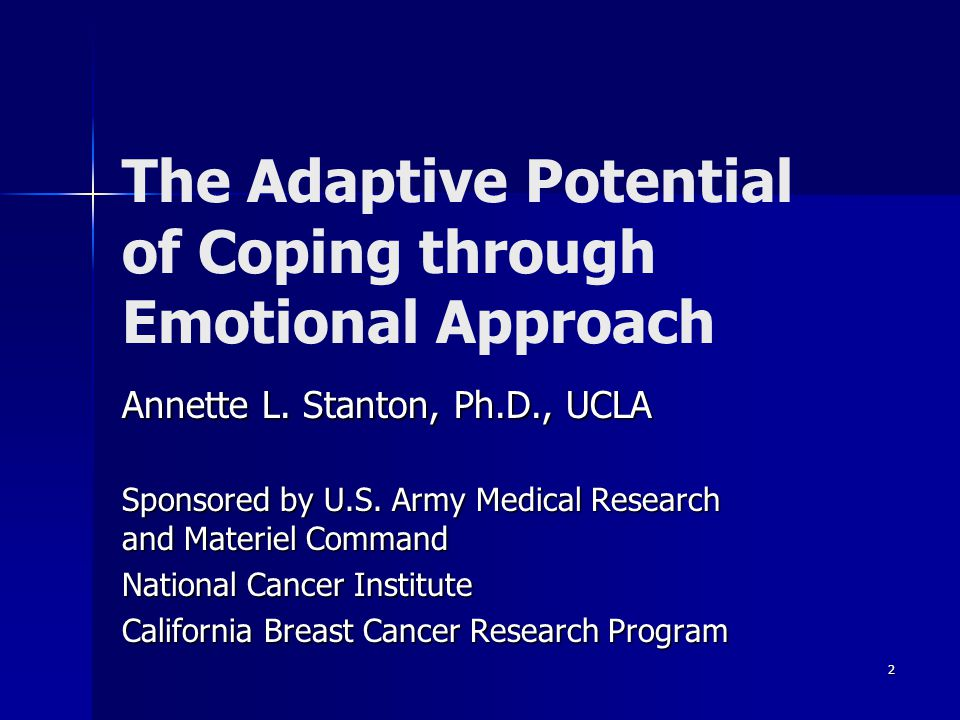 The Adaptive Potential of Coping through Emotional Approach