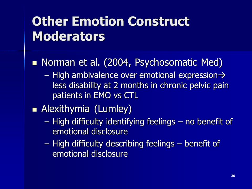 Other Emotion Construct Moderators